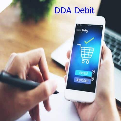 DDA Debit check charge mean