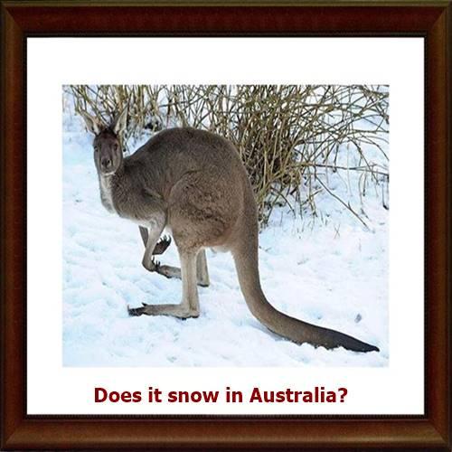 Does it snow in Australia