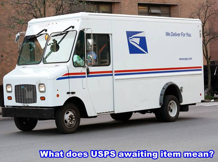 What does USPS awaiting item mean
