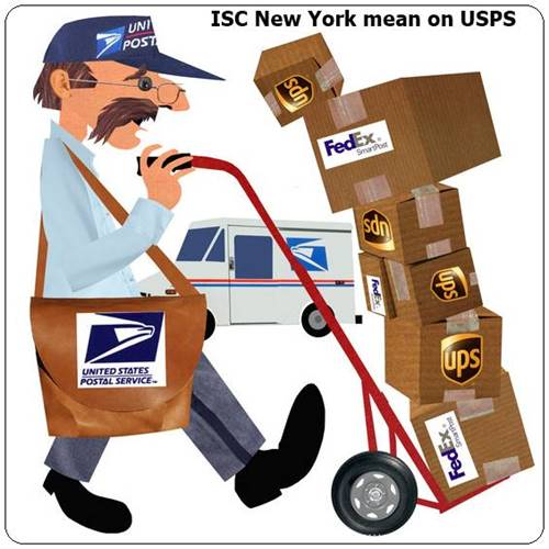 What does processed through ISC New York mean on USPS tracking