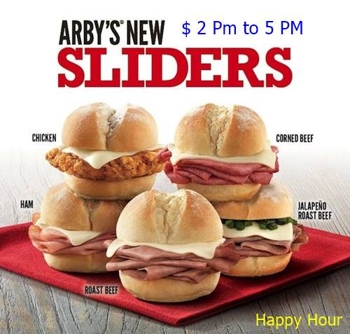 What is Arby's happy hour
