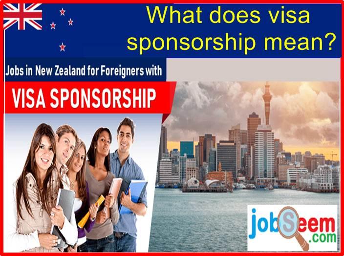 visa sponsorship mean