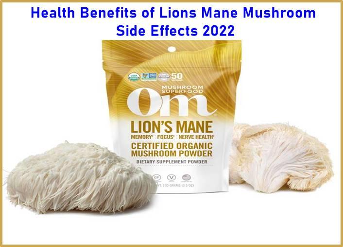 Health Benefits of Lions Mane Mushroom Side Effects 2022